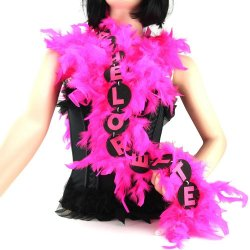 Flashing 6 ft Bachelorette Party Feather Boa - Pink Sex Toy