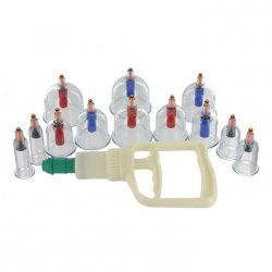 Master Series: Sukshen 12 Piece Cupping System - Clear Sex Toy