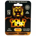 Gold Lion - 1 Capsule Sex Toy