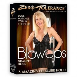 Zero Tolerance Blow Ups - The Granny Doll with DVD & Lube Sex Toy