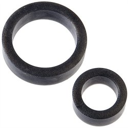 Platinum Silicone: The C Rings Double Pack - Charcoal Sex Toy