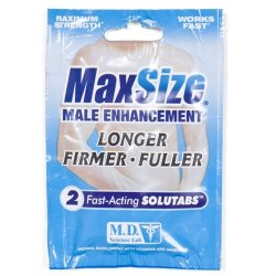 Max Size - 2 Pill Pack supplement.