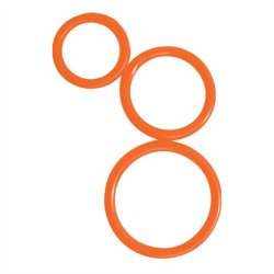 Curve Novelties Rooster Control Rings - Orange Set of 3 Sex Toy