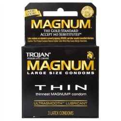 Trojan Magnum Thin Lubricated - 3 Pack Sex Toy