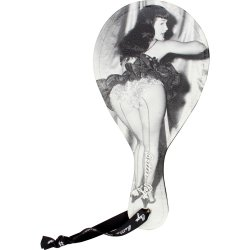 Bettie Page Picture This Spanking Bat - Black Sex Toy