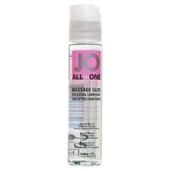 System JO All In One Massage Glide - Strawberry 1oz. Sex Toy