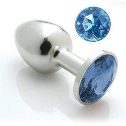 Pretty Plugs Medium with Swarovski Crystals - Blue Sex Toy