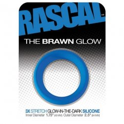 Rascal: The Brawn Cockring - Glow in the Dark - Blue Sex Toy