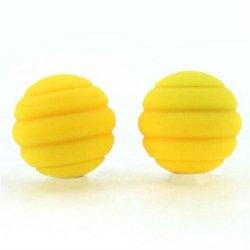 Maia: Twistty Silicone Balls - Yellow Sex Toy