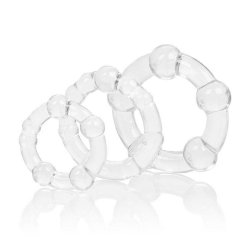 Silicone Island Rings - Clear Sex Toy