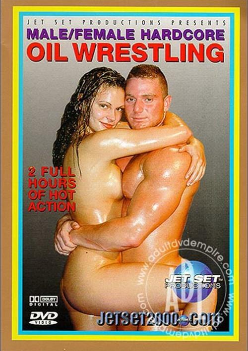 Male/Female Hardcore Oil Wrestling