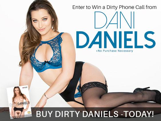 Win a phone call contest with pornstar Dani Daniels.