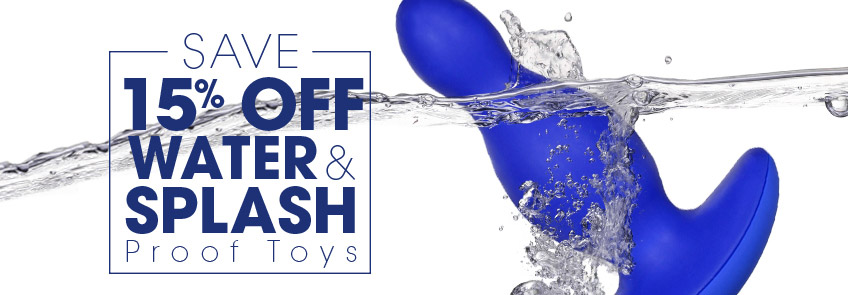 Browse water & splash-proof sex toys on sale.