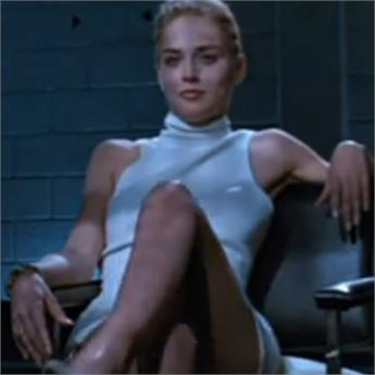 Sharon Stone stars in Basic Instinct.