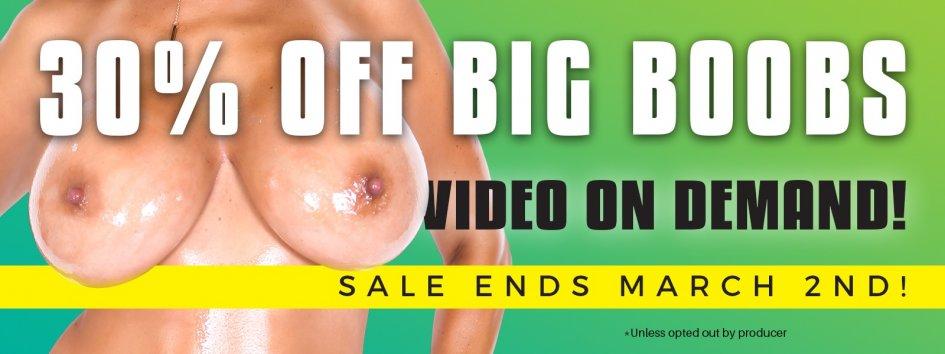 Buy big boob porn videos on sale.