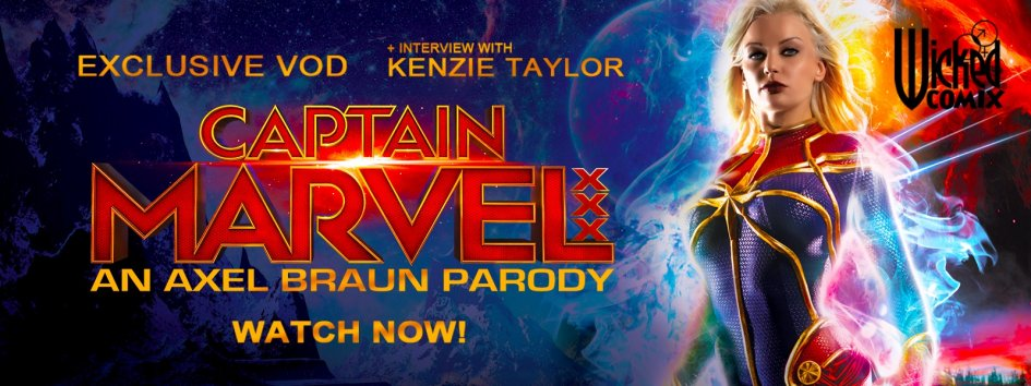Kenzie Taylor stars in Captain Marvel XXX exclusive porn video.