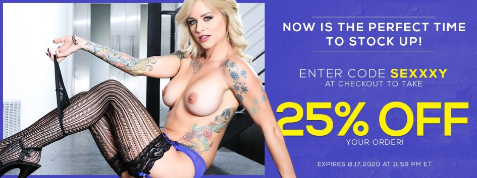 Enter SEXXXY at checkout for 25% off.
