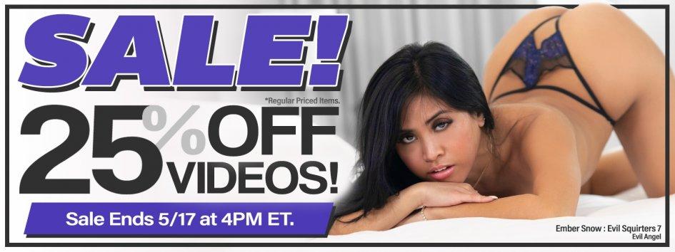 Buy  porn videos at 30% off.