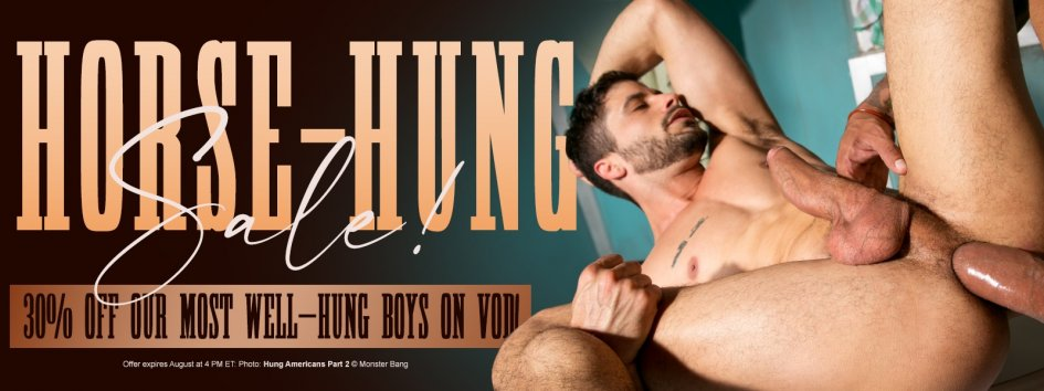 Horse Hung Gay Porn VOD Sale!