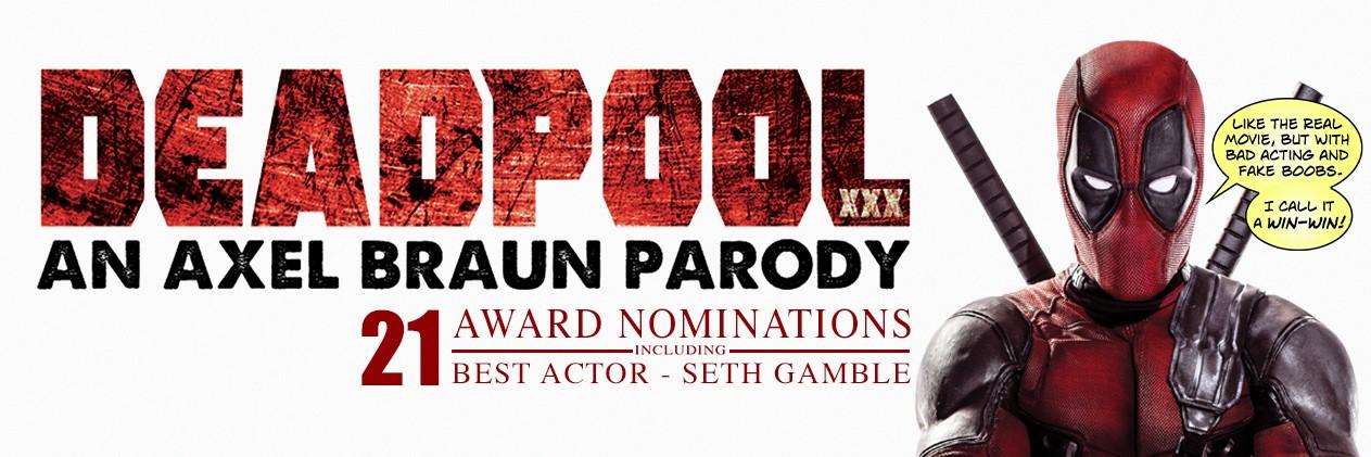 Deadpool XXX: An Axel Braun Parody - 21 Award Nominations Banner