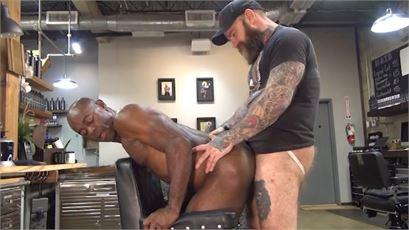 Rocco Steele's Dad's Bareback Barbershop - Scene 4 porn scene.
