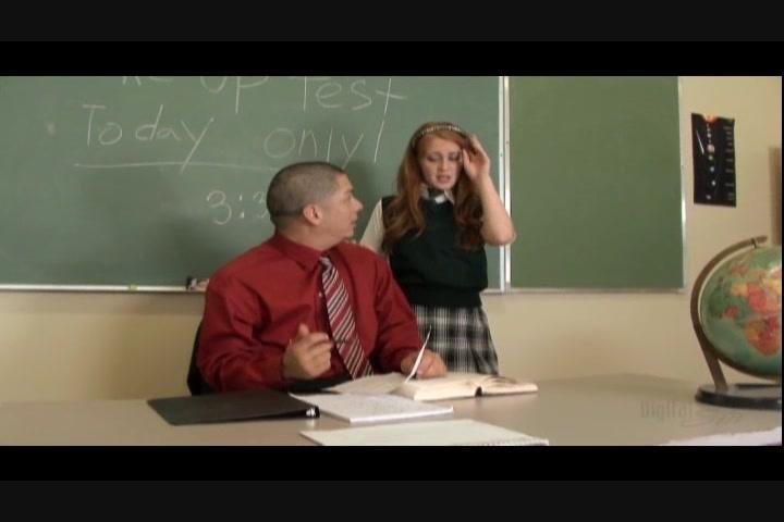 Teacher fucks student on desk