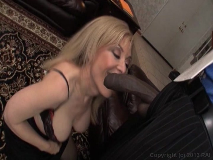 Milf sucking huge black cock