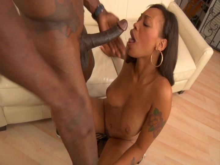 FRANCISCA: Hot Black Chick Sucks Dick