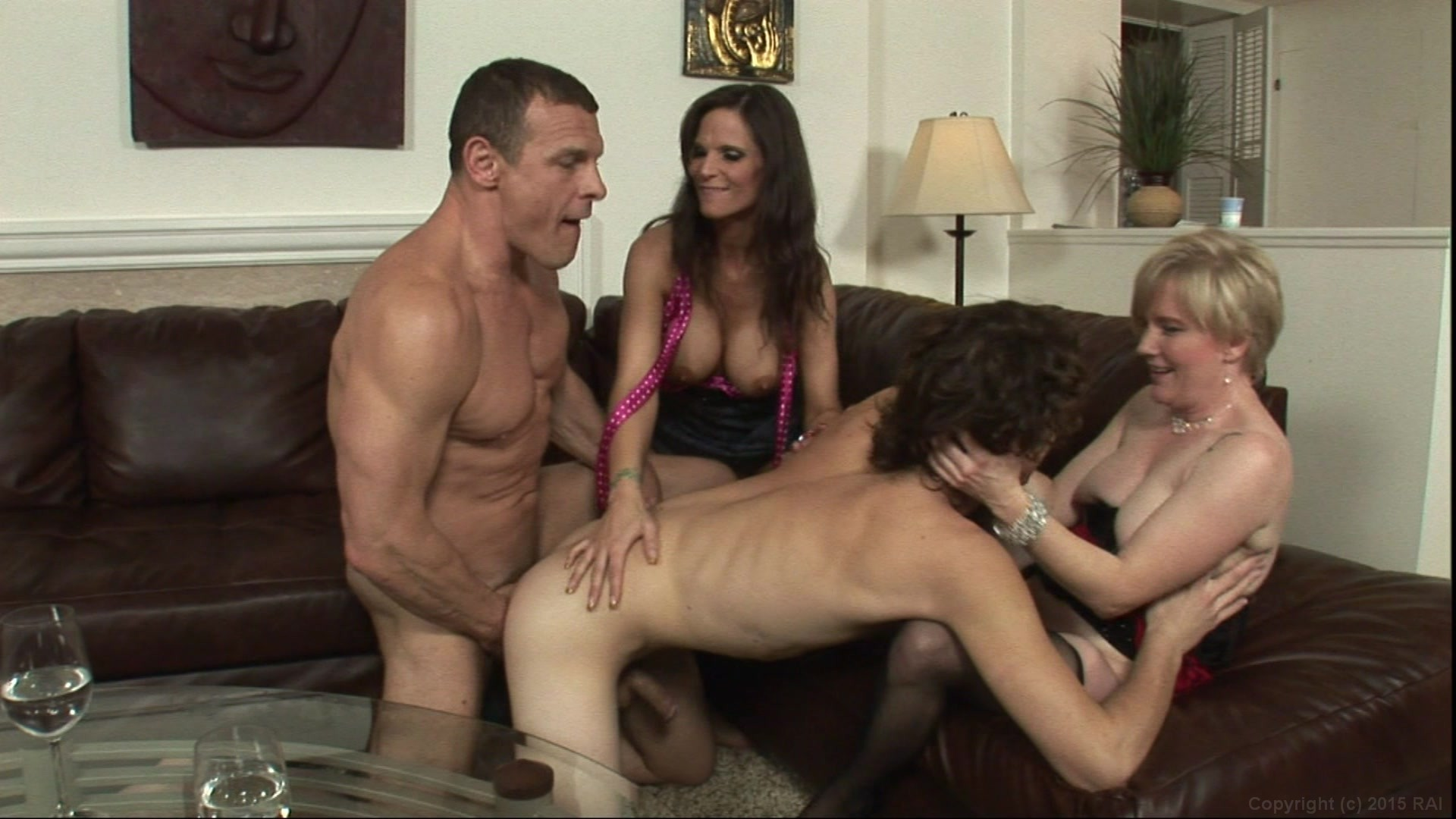 Syren Demar and Madeline Hunter and Their Men Have a Hot Bisexual Foursome