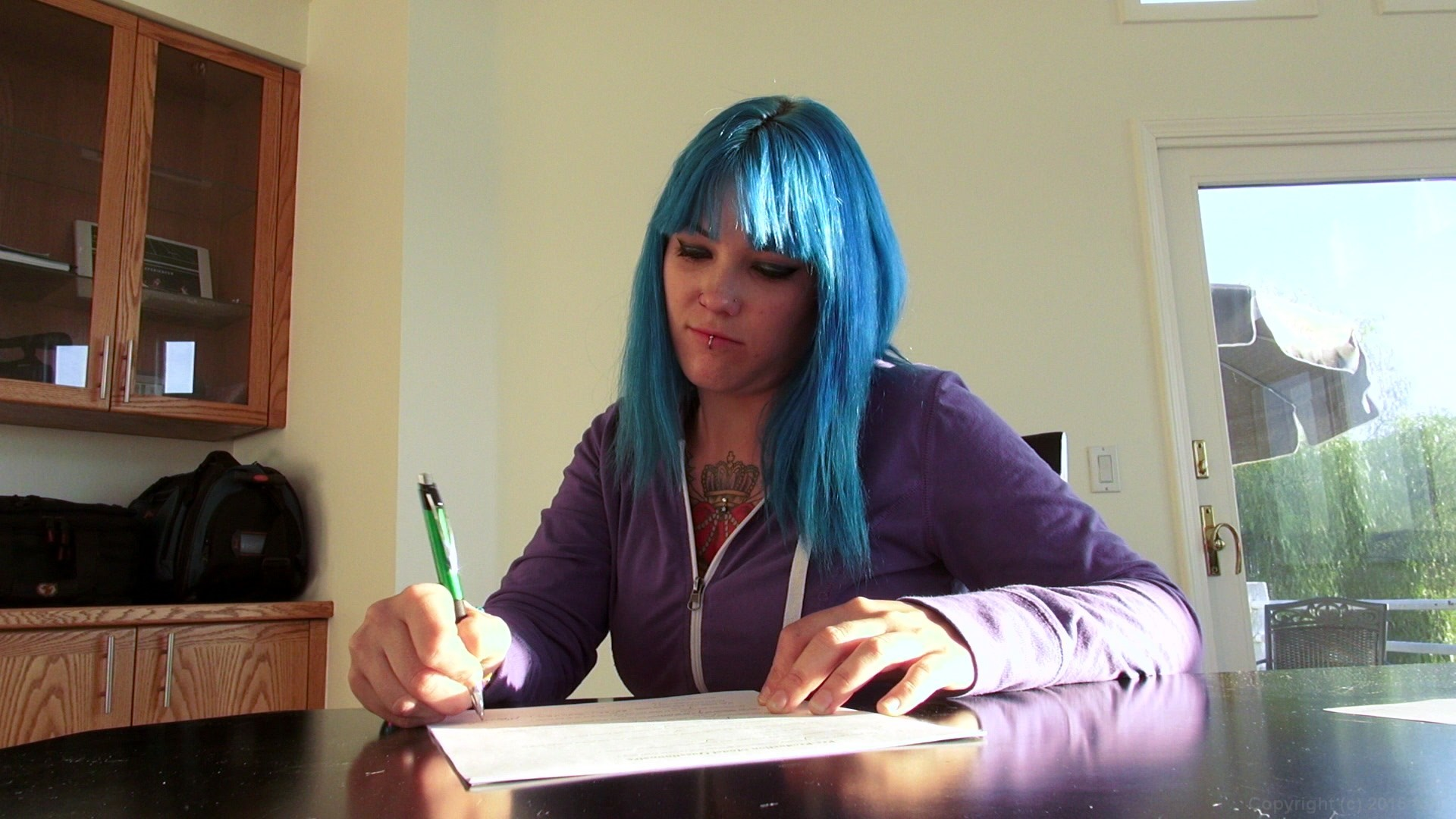 Many blue haired girls porn pics