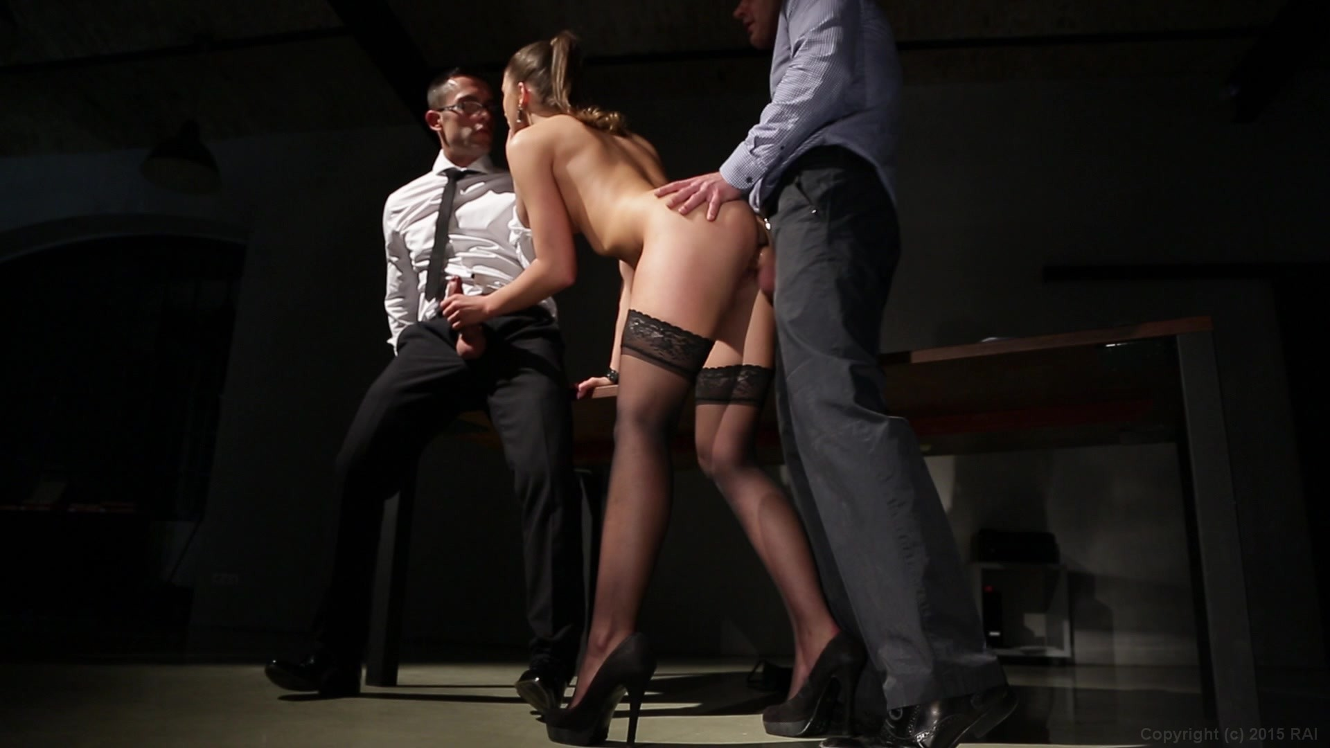 Irresistible Brunette Sucks and Fucks Two Businessmen in the Office in Hot  Threesome from Manon, Rookie Secretary | Marc Dorcel (English) | Adult  Empire ...