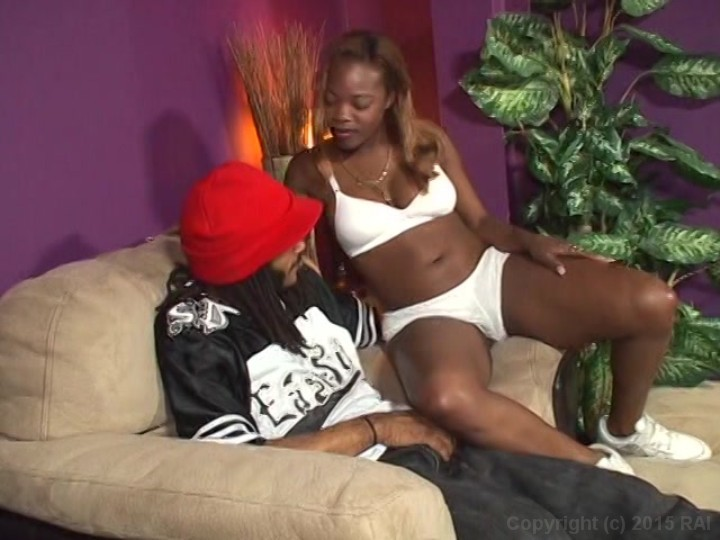Caramel Haired Black Babe Gets Fucked On The Couch And Sucks A Big Black Dick From Black Bald Pussy Cheerleaders 5 Woodburn Productions Adult Empire