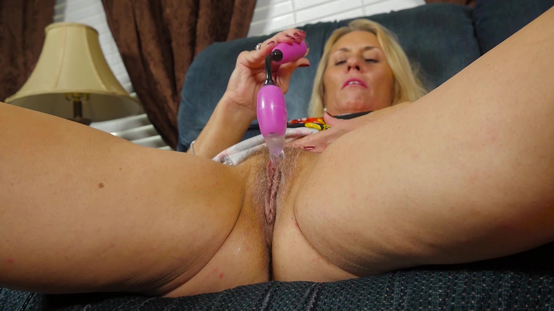 milf breaks out the toys to please her mature pussy from aj presents