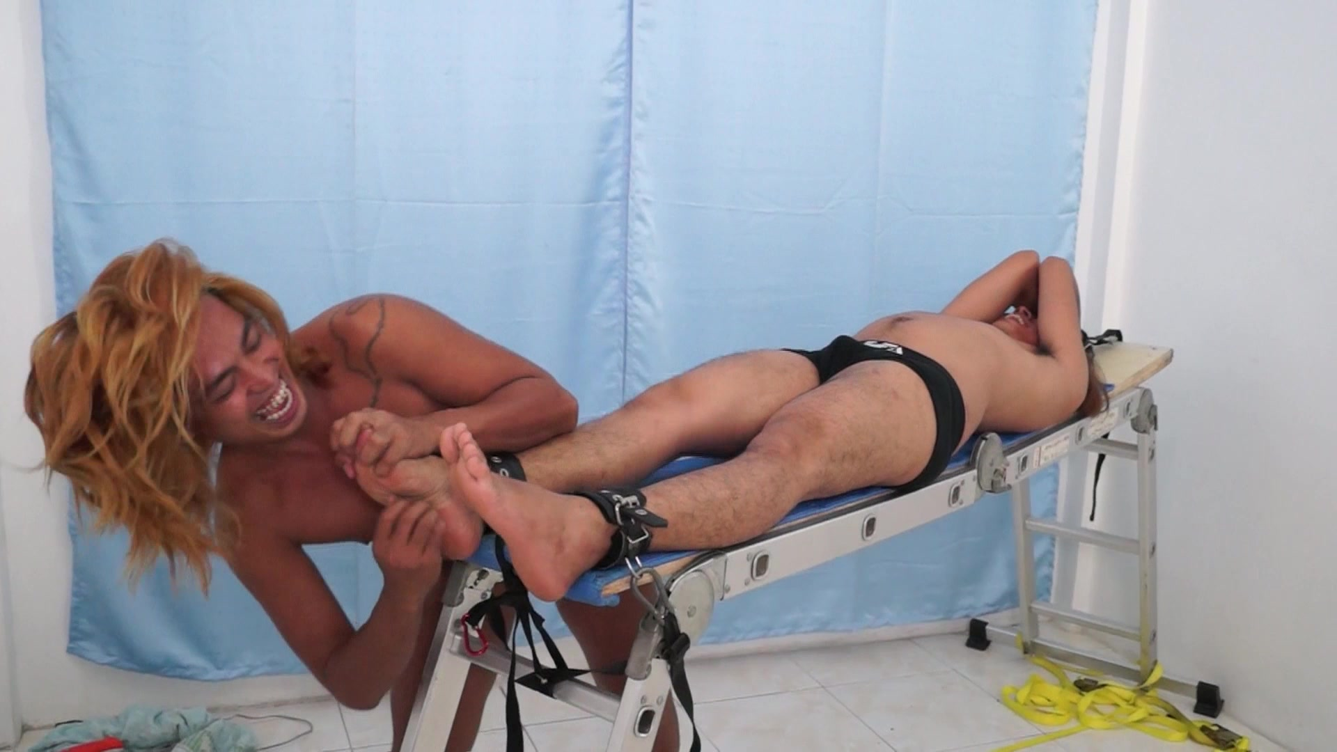 Tickled And Stripped
