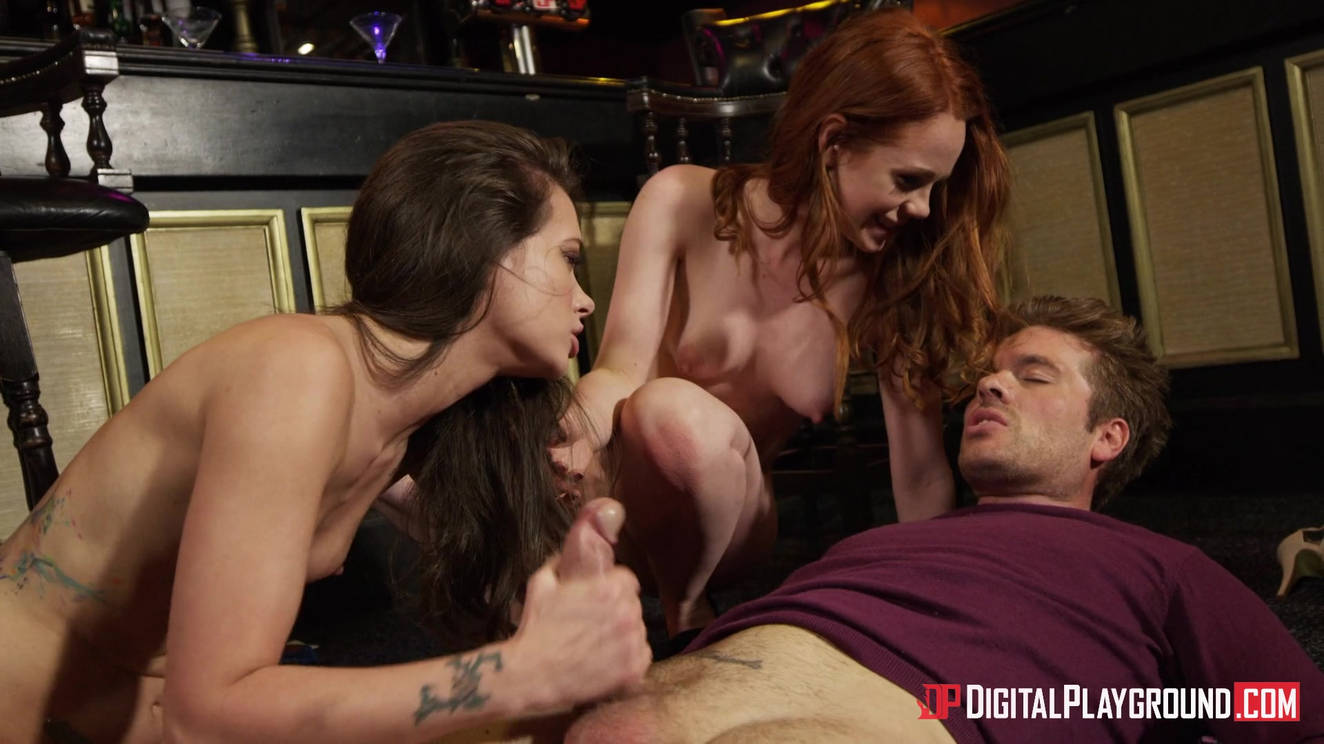 Redhead Ella Hughes and Brunette Gia Paige Share His Big Dick in a Hot  Threesome from How I Fucked Your Mother | Digital Playground | Adult Empire  Unlimited
