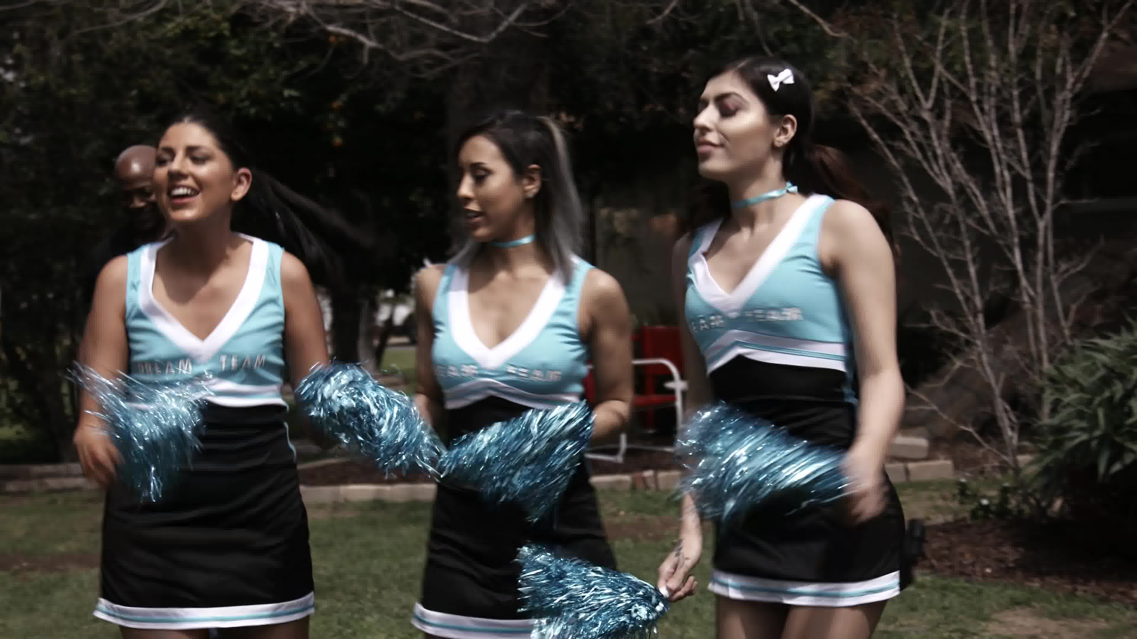 Something all girl cheerleader orgy for