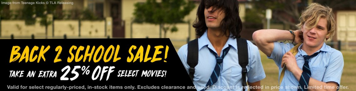 Save 25% on gay cinema movies.