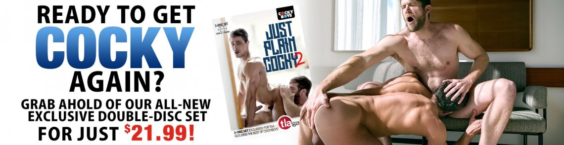 Buy Just Plain Cocky #2 gay porn DVD from CockyBoys.