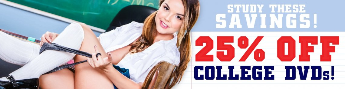 Save big on select college porn movies now.