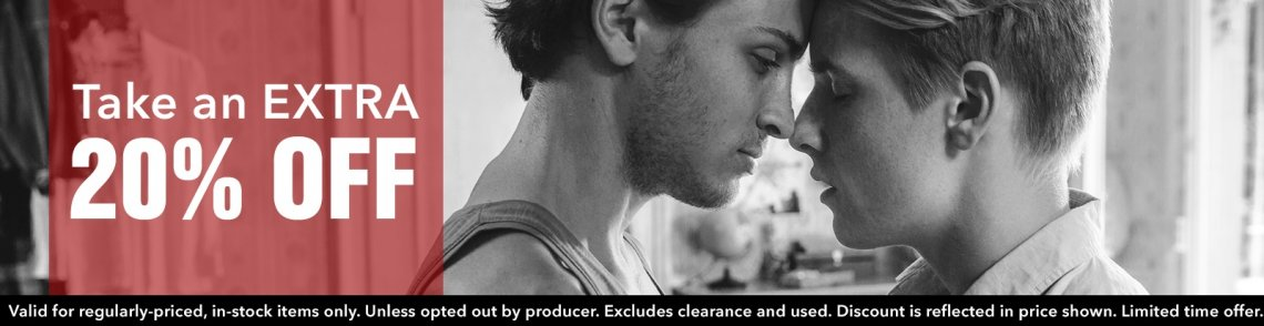 Take an extra 20% off gay cinema DVDs.