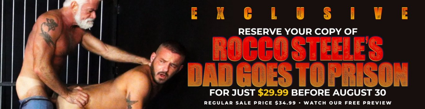 Order Rocco Steele's Dad Goes To Prison Gay Porn DVD!