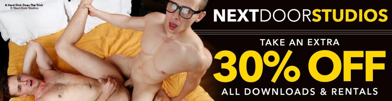 Stream Next Door Studios gay porn videos and save 30%.