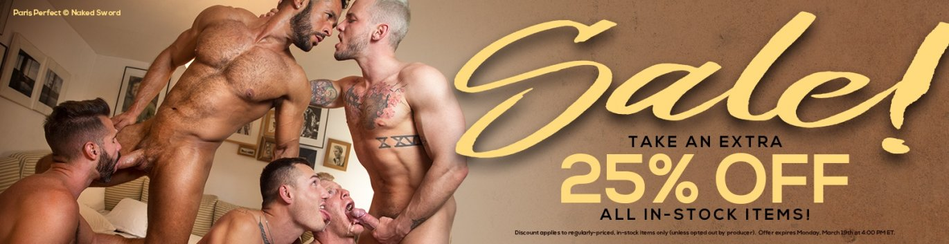 Shop these in stock gay porn DVDs save 25%.