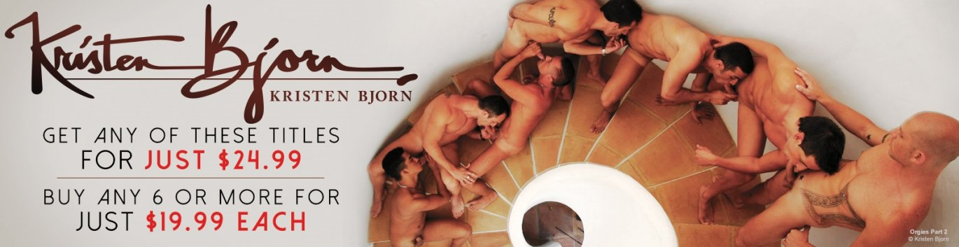 Buy 6 Kristen Bjorn gay porn DVDs and pay only $19.99!