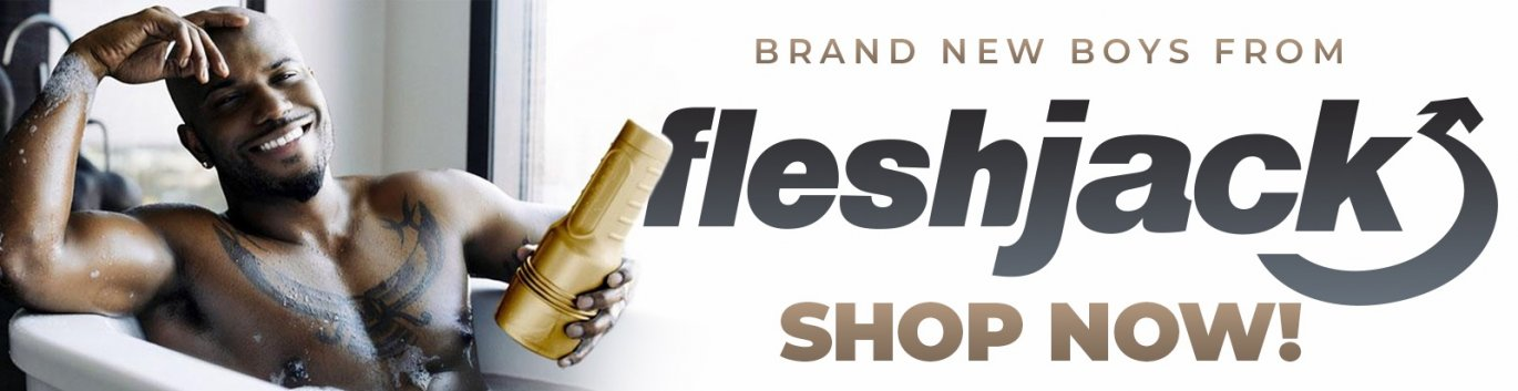 Brand new Fleshjack sex toys featuring Milan Christopher.