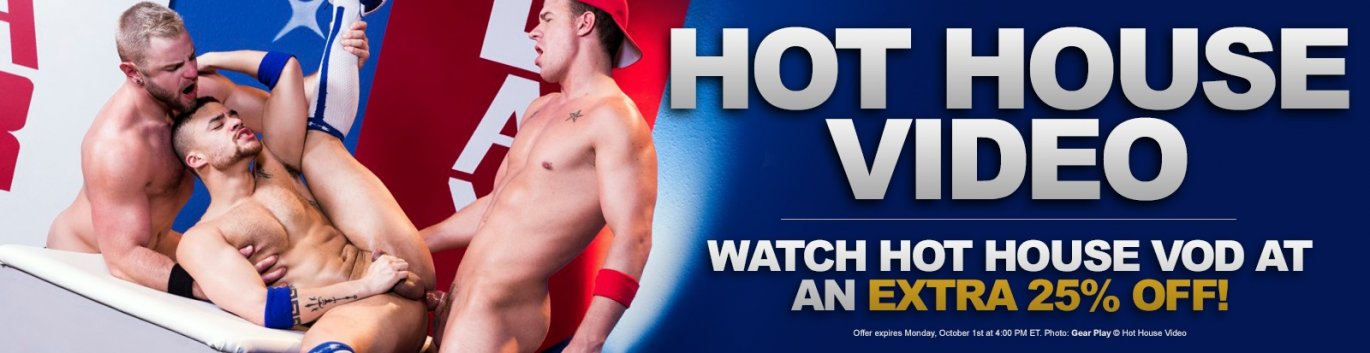Watch Hot House Video gay porn VOD at 25% off the regular price.