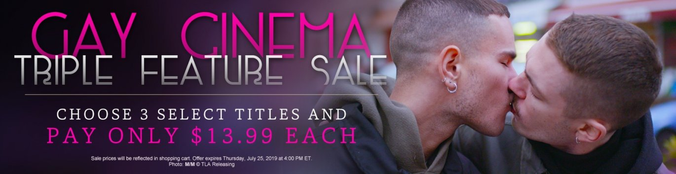 Pick 3 Gay Cinema DVDs and Pay Only $13.99 EACH.