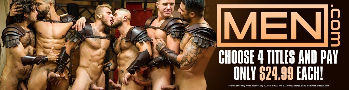 MEN.com Gay Porn DVDs on sale now.