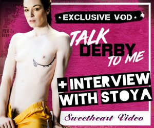 Stoya stars in Talk Derby To Me porn video.