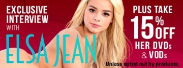 Adult Empire exclusive Elsa Jean interview plus 15% off her DVDs.